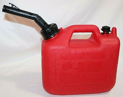 Old Style Pre Ban Vented Wedco W120 1 14 Gallon Red Poly Plastic Gas Can