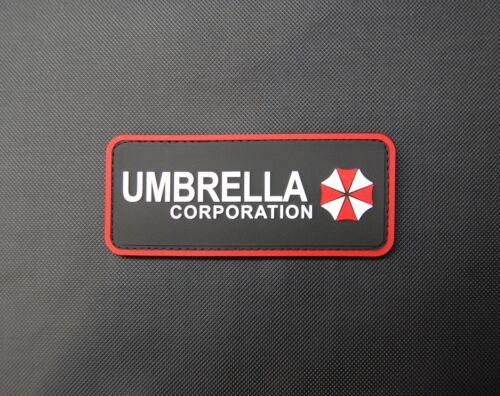PVC Rubber Resident Evil Umbrella Corporation Uniform Patch Hook Fastener