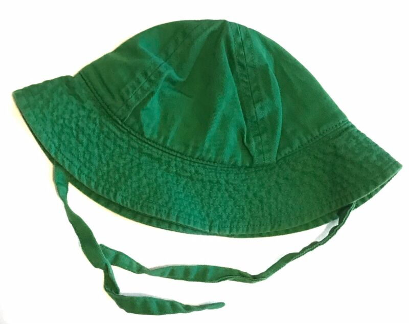 Hanna Andersson XS X-Small Baby Green Sunhat Bucket Hat Chin Tie