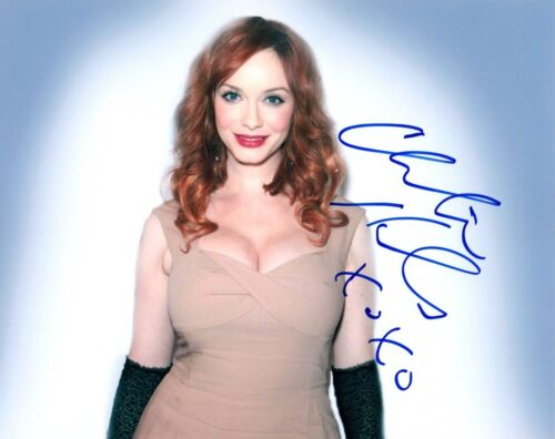 Christina Hendricks Signed Autographed 8x10 Photo MAD MEN Hot Sexy Actress COA