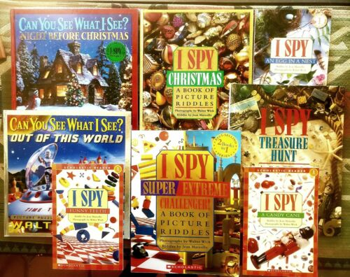 8 I Spy/Can You See What I See Books By Walter Wick 3 Christmas Excellent  - $14.00