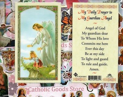 My Daily Prayer to My Guardian Angel (girl)  - Laminated Holy Card