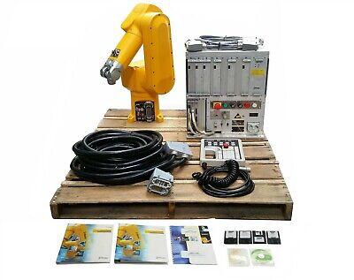 Staubli Rx60l Robotic 6-axis Arm Cs7mb Rx60l Controller Box Teach Pendant
