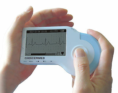 Md100b Handheld Palm Ecg Ekg Heart Monitor Fda Approved Full Accesories Kit