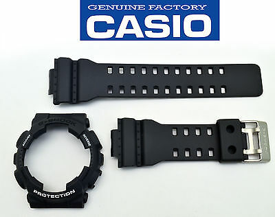 Genuine Casio Watch Band & Bezel Rubber Strap Greyish Black G-Shock GA-110C-1A - Bezel Rubber Strap Watch