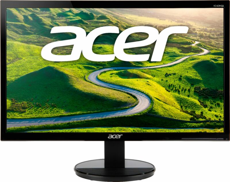 "Acer - 23.6"" LED FHD Monitor - Black"
