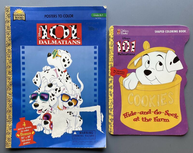 Lot Disney's 101 Dalmatians Activity Books NEW Coloring & Poster Books