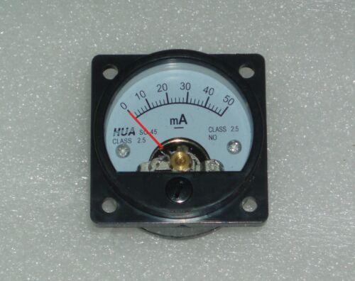 Analog Panel Meter DC 0-50mA AMMETER SO-45