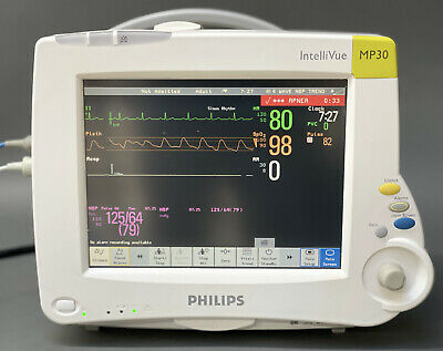 Philips Intellivue Mp30 Touch Screen Patient Monitor With M3001a Mms Module