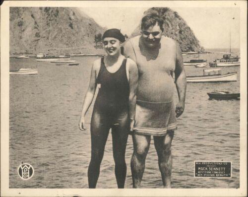 HIS DIVING BEAUTY (SEA NYMPHS) R1918 ORIGINAL 8X10 LOBBY CARD FATTY ARBUCKLE