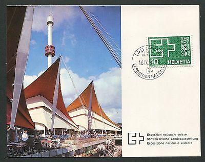 SCHWEIZ MK 1964 782 EXPO LAUSANNE MAXIMUMKARTE CARTE MAXIMUM CARD MC CM d3027