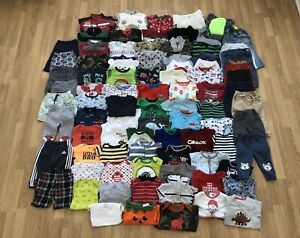 Baby Boy Clothes Lot (90 Items) 6-12 months