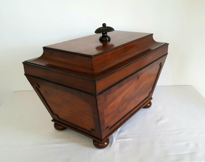 Georgian mahogany sarcophagus cellarette, beautiful Regency wine cooler c. 1820
