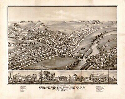Calumet Hecla Red Jacket Michigan 1881 Historic Panoramic Town Map 24x36