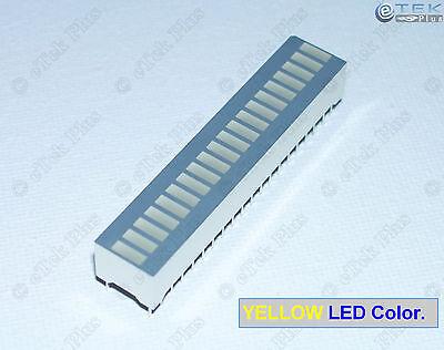 1 pcs 20-Segs Yellow LED Bargraph [for LED Audio VU Meter Arduino Bar Graph] USA Bar Graph Meter