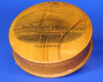 Antique Victorian Mauchline Snuff /trinket box 6cm **[17710]