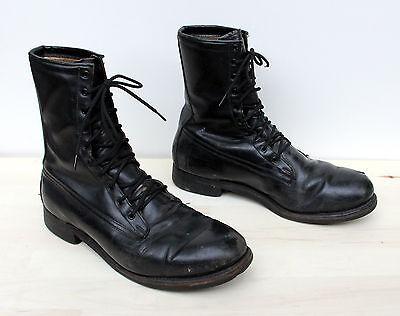Vintage Vietnam War Era Addison Combat Military Boots Mens Size 10 D Dated 1972