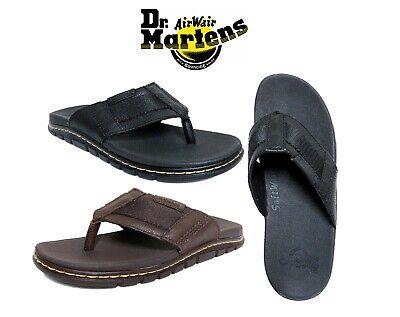 Brown Unisex Flip Flops - New DR MARTENS Men's Unisex Athens Thong Carpathian Flip flops Sandal Shoes