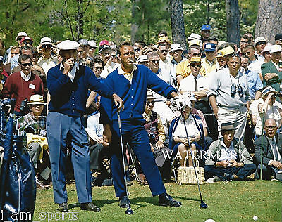 ARNOLD PALMER BEN HOGAN 1966 MASTERS GOLF 8x10 PHOTO