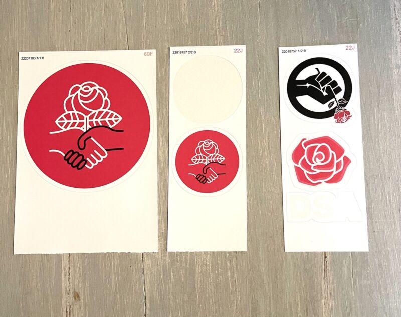 Democratic Socialists of America Sticker Set of 5