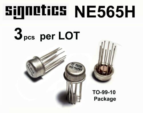 3 LOT NE565H Phase-Locked Loop Signetics (LM565H) TO-99 10-Pin CAN NOS-USA SHIP
