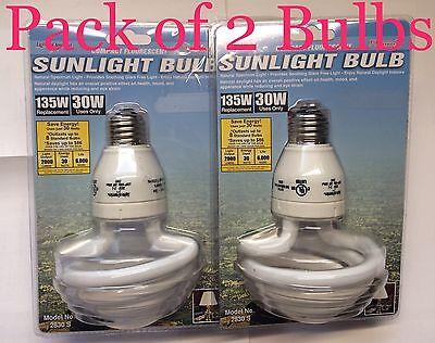 2 PACK - 135W 6500K Natural Sunlight Light Bulb/s Grow CFL Growlights