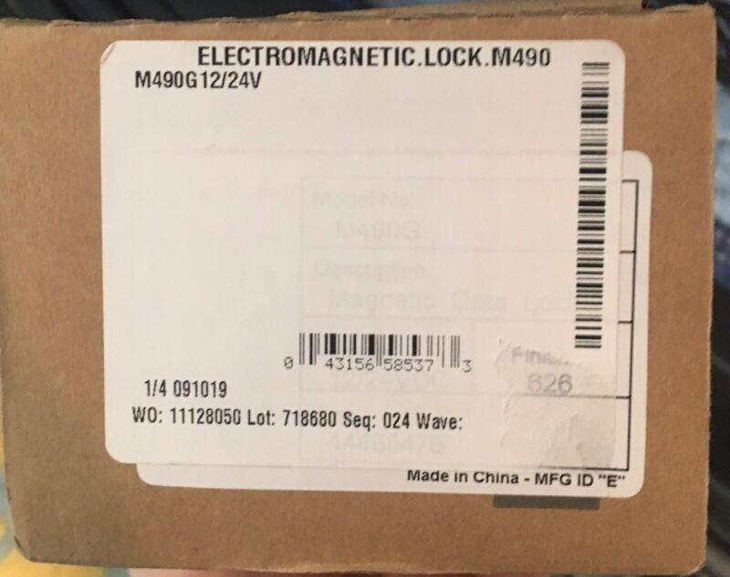 Schlage Locknetics M490G Electromagnetic Door Mag Lock 1500 lbs 12/24 VDC