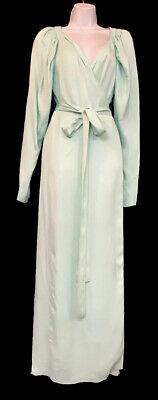 rotate birger christensen Long Wrap Dress Mint Long Sleeve Nwt Size 34