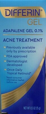 Differin Adapalene Gel 0.1% Retinoid Acne Treatment 15G  EXP:10/2022