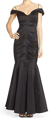 Xscape Ruched Off-Shoulder Taffeta Mermaid Gown Size 6 MSRP $209 # IN 2