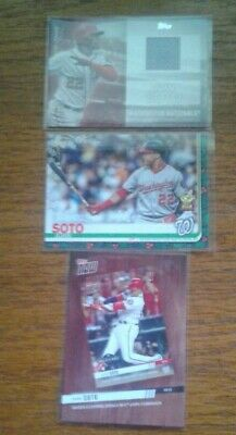 JUAN SOTO 2020 TOPPS SERIES 2 JERSEY INSERT 2019 TOPPS HOLIDAY ROOKIE CUP LOT