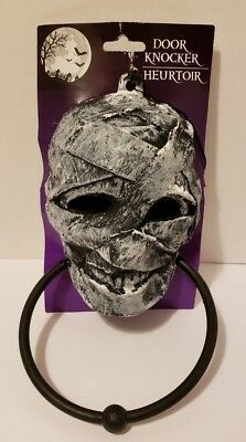 Gothic Zombie-MUMMY DOOR KNOCKER TOWEL RING-Haunted House Horror Prop Decoration - Halloween Mummy Door Decorations