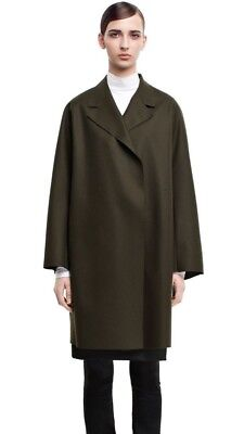 Womens Acne Studios Ember Wool-Cashmere Belted Coat in Dark Olive - Size 34
