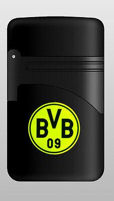 Turbo Elektronik (Elektronik FAN Feuerzeug Turbo EASY TORCH BVB Borussia Dortmund nachfüllbar Neu)