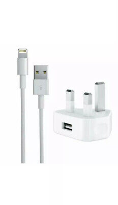 CE Charger Plug & USB Sync Cable for Apple iPhone 8 7 6S X XS XR