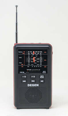 Degen DE36 Rechargeable AM/FM Shortwave Radio & MP3 Player