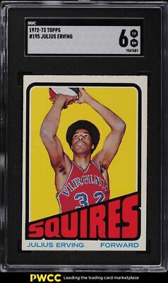 1972 Topps Basketball Julius Erving ROOKIE RC #195 SGC 6 EX-NM
