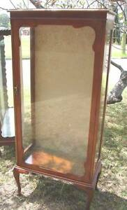antique vintage maple Tall China display cabinet 3 glass shelves Kingswood Penrith Area Preview