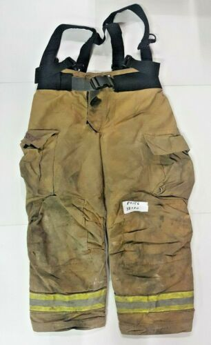 Globe Gxtreme 38x30 Brown Firefighter Bunter Turnout Pants With Suspenders P0156