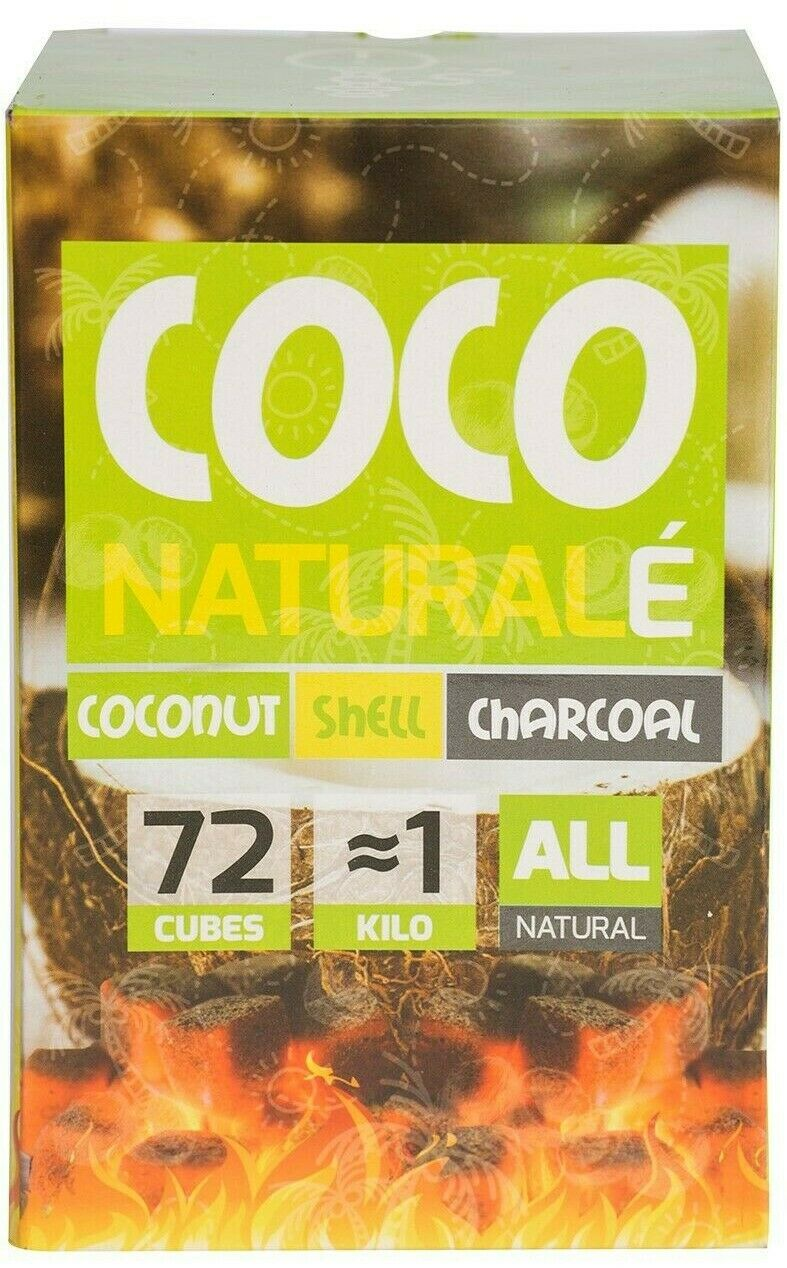 coco naturale coconut charcoal cubes for hookah