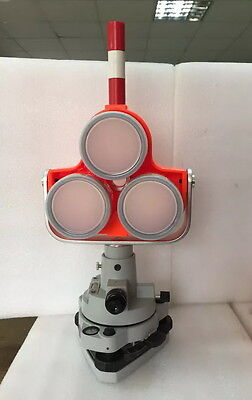 New Red Triple Prism Tribrach Set System F Topconsokkia Total Station Surveying