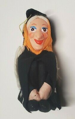 Vintage Halloween Pixie Doll Witch Knee Hugger Rubber Face Japan