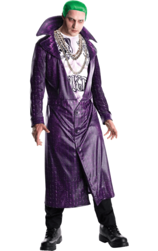 The Joker Costume Suicide Squad Film Tv Villain Halloween Fancy Dress Ebay
