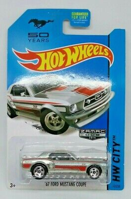 Hot Wheels ZAMAC '67 Ford Mustang Coupe HW City 50 Years