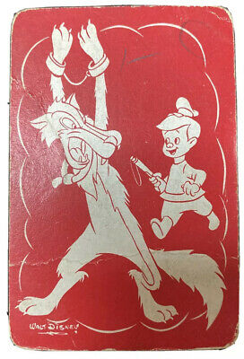 Disney Wolf Single Swap Playing Card - Vintage