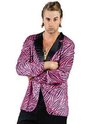 Gr. L Tiger Jacke Disco Herren lila Zuhälter Schlagermove Kostüm B87140