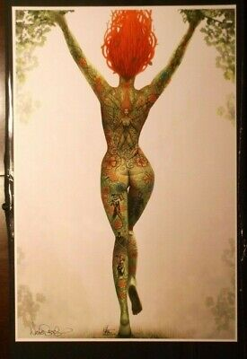 NATHAN SZERDY SIGNED 12X18 SIGNED ART PRINT POISON IVY TATTOO NUDE PIN UP NEW