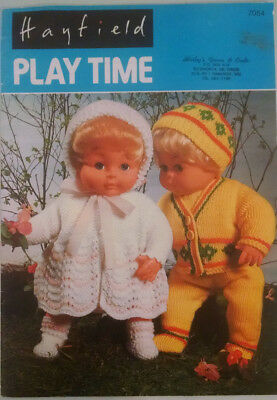 Vintage Hayfield Doll Clothes Knitting Pattern7054 for sale  Huntersville