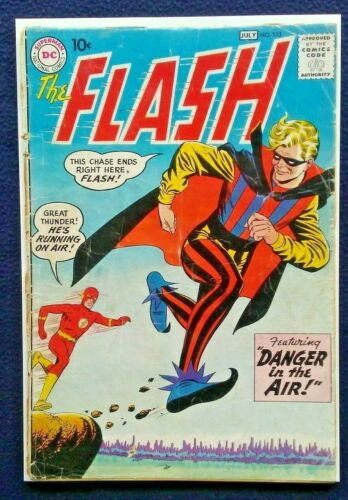 FLASH 113, 1960 Origin 1st Appearance of the Trickster! DC Silver Age, Low Grade