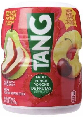 Powdered Drink Mix (Tang Powdered Drink Mix, Fruit Punch, 18.0 Ounce-FREE SHIPPING)